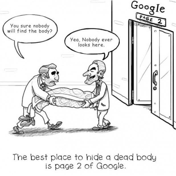 Google Page 2 SEO Meme